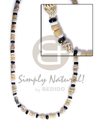 4-5mm coco pokalet nassa Surfer Necklace