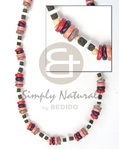 Coco pokalet red black violet combination Surfer Necklace