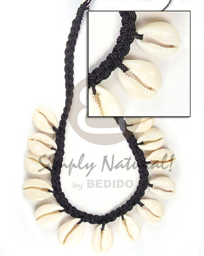 hand made Sigay with macramie necklace Surfer Necklace