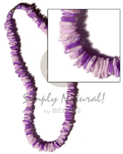 White rose lavender splashing Surfer Necklace
