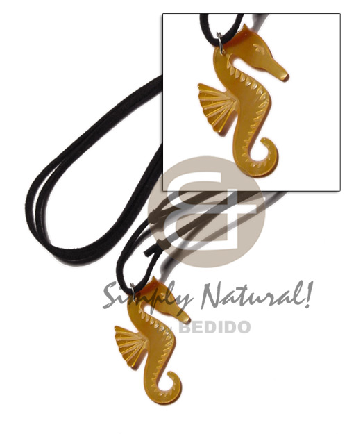 45mm mop seahorse on adjustable Surfer Necklace
