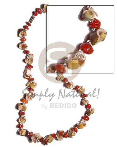 Green everlasting luhuanus red Surfer Necklace