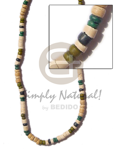 4-5mm heishe bleach pukalet Surfer Necklace