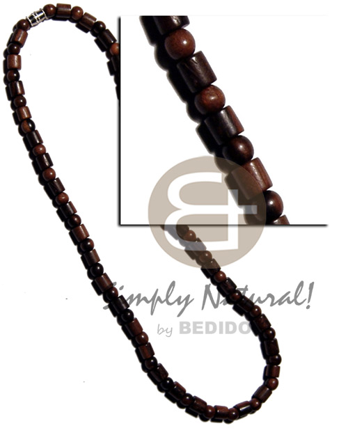 Round camagong tiger wood beads Surfer Necklace