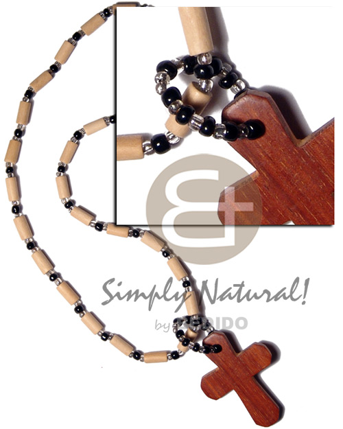 hand made Natural white wood tube Surfer Necklace