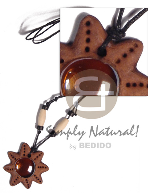 40mm clay star Surfer Necklace