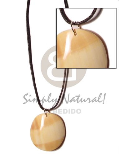 hand made Cord polished 40mm round Surfer Necklace