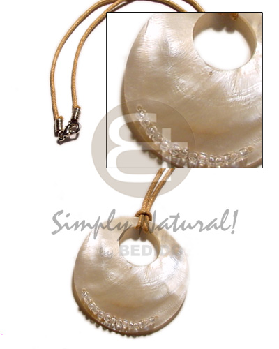 Wax cord 50mm round Surfer Necklace