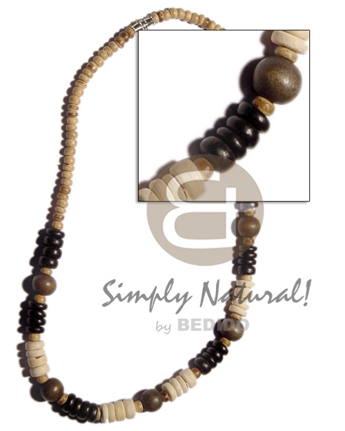 4-5mm coco pokalet natural Surfer Necklace