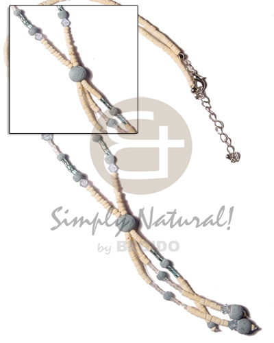 3-tassel coco pokalet bleach Tassled Necklace