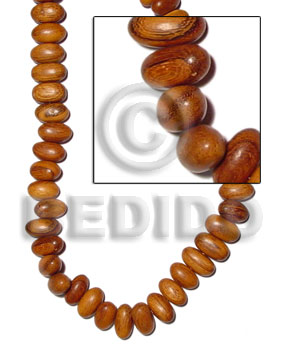 bayong oval sidedrill 14mmx27mm - Teardrop & Oval Wood Beads