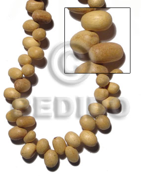 """nangka"" oval sidedrill 12mmx8mm Teardrop & Oval Wood Beads"