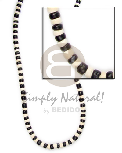 4-5mm coco pokalet black Teens Necklace