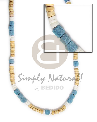 4-5mm nat wht coco pokalet blue Teens Necklace
