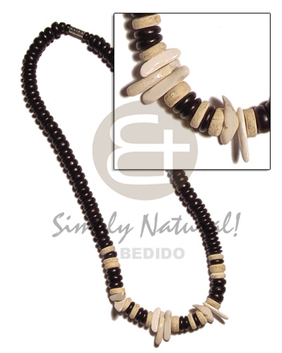 4-5mm coco pokalet. black bleach Teens Necklace