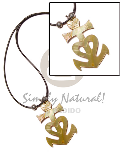 45mm anchor mop in wax Teens Necklace