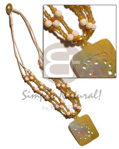 3 layer wax cord Teens Necklace