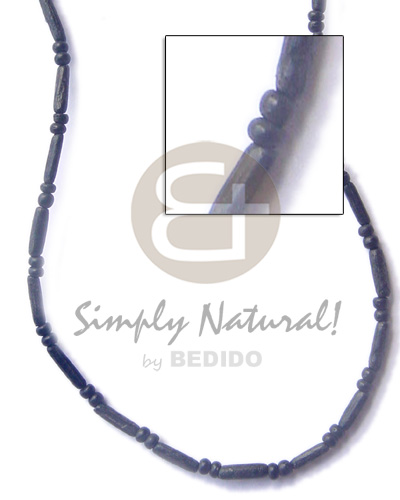 Sig-ed tube black 2-3 Teens Necklace