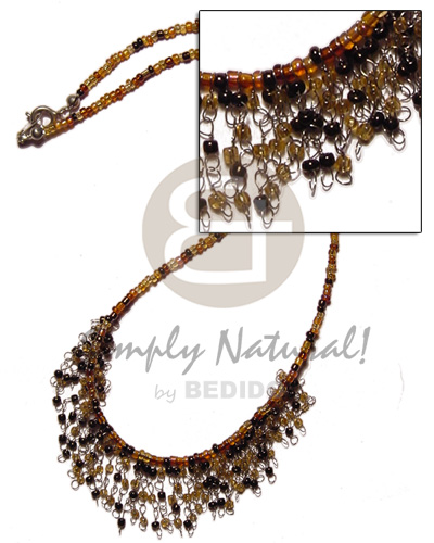Glass Beads In Light Brown