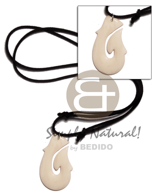 40mm celtic white carabao bone Teens Necklace
