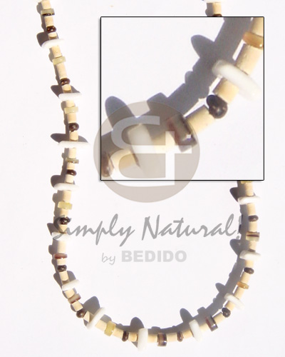 2-3 coco pukalet natural brown Teens Necklace