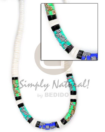 Graduated white clam 7-8mm Teens Necklace