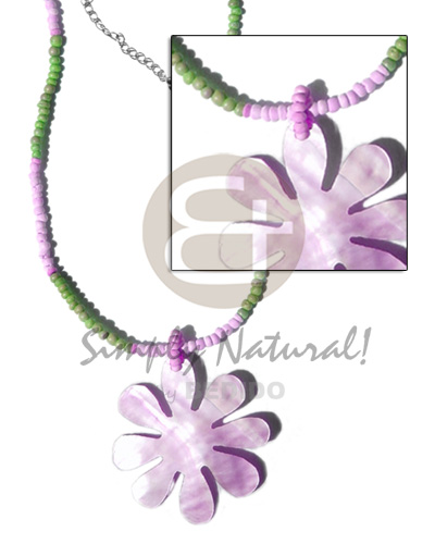 2-3mm green lilac coco pokalet Teens Necklace