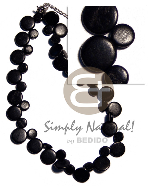 Single row black coco sidedrill Teens Necklace