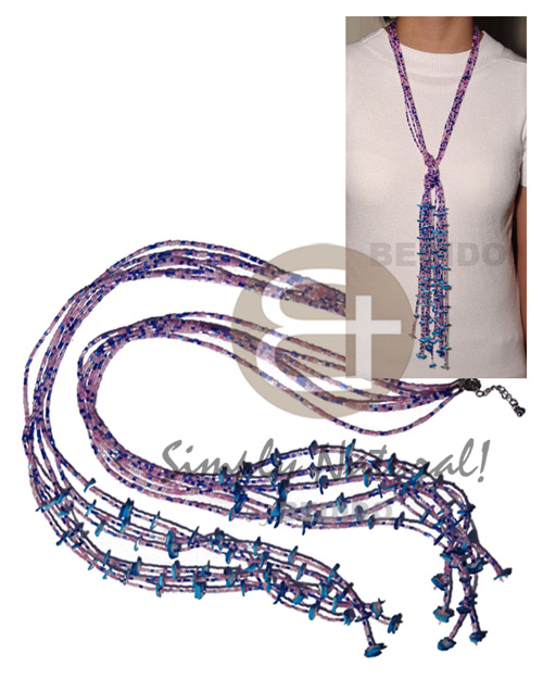 hand made Scarf necklace - 7 rows Teens Necklace