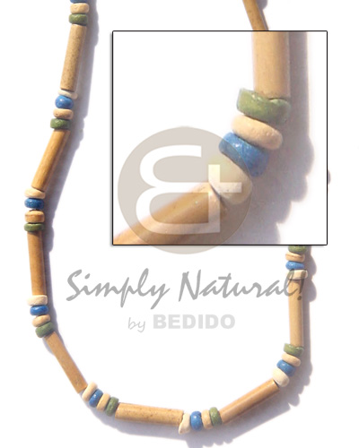 Nat bamboo tube 4-5 Teens Necklace