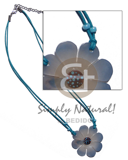 40mm hammershell flower nectar Teens Necklace