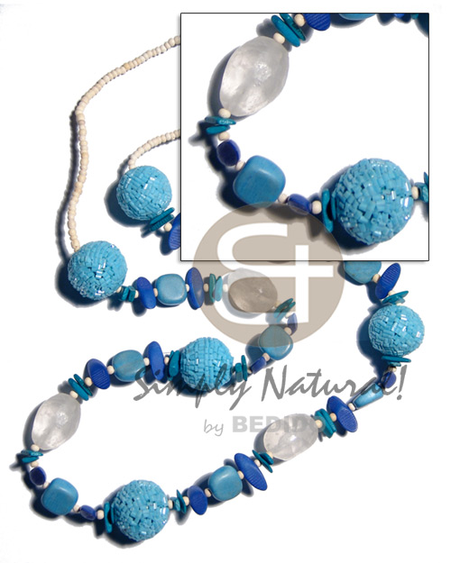 2-3mm bleach coco pokalet 25mm Teens Necklace