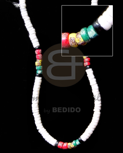 4-5 white clam heishe Teens Necklace