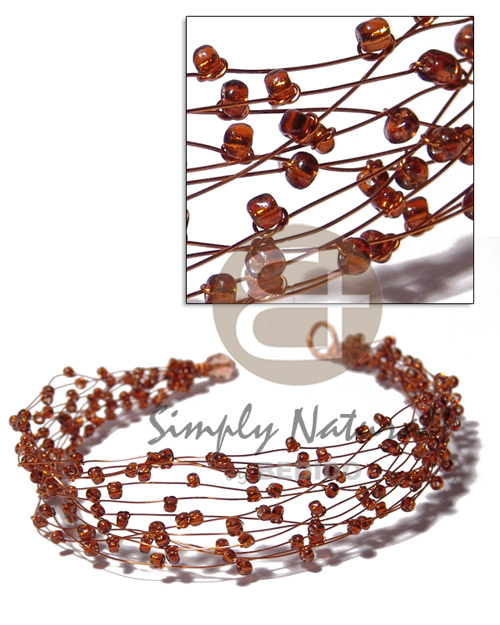 13 rows copper wire choker Teens Necklace