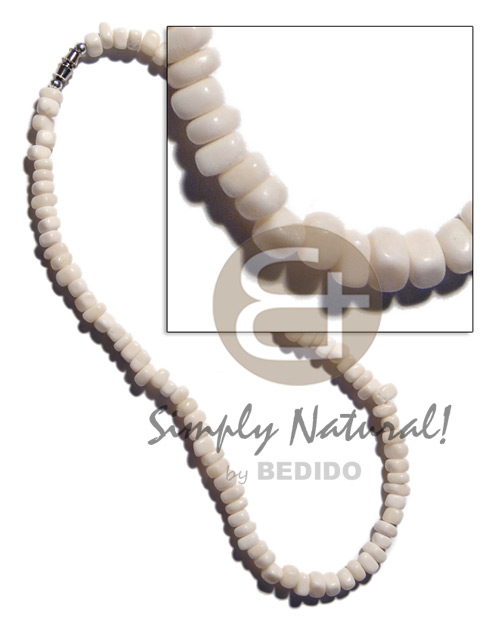 hand made White carabao bone nuggets Teens Necklace