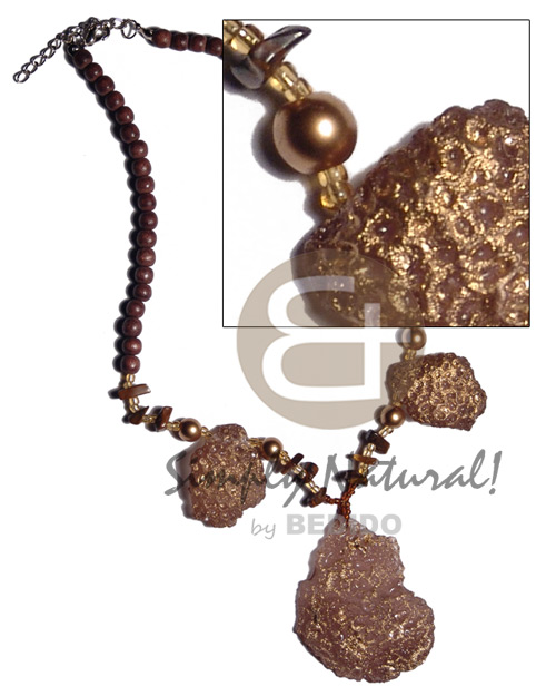 Brown Natural Wood Beads