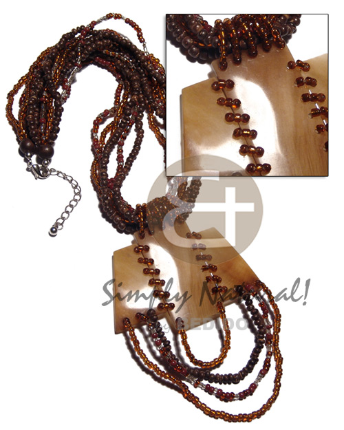 6 rows 2-3mm coco pokalet Teens Necklace