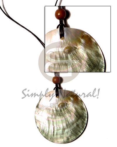 hand made Cord polished 50mm round Teens Necklace