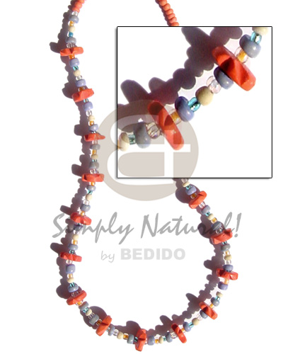 Light orange coco pokalet and Teens Necklace