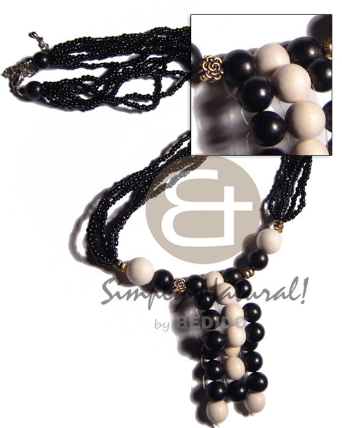 Black and white tones Teens Necklace