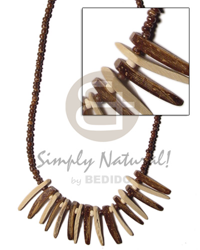 Natural brown coco pokalet Teens Necklace