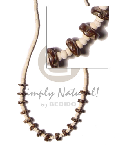 2-3mm coco pokalet nat Teens Necklace