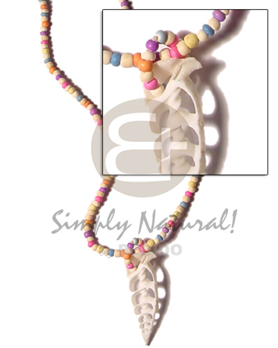 Candy colored 2-3mm coco pokalet Teens Necklace