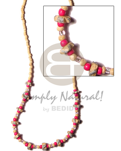 2-3 coco heishe nat Teens Necklace