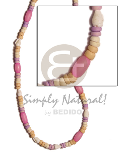 4-5mm coco pokalet nat bleach Teens Necklace