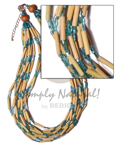 12 layer bamboo tube Teens Necklace