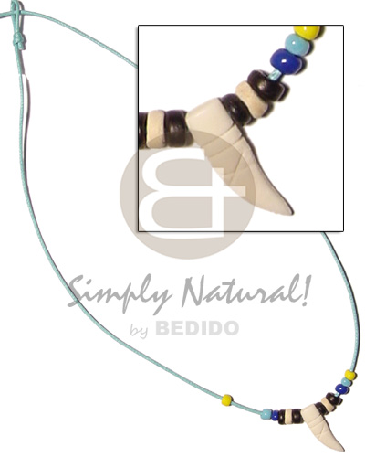 Cord beads coco pokalet and Teens Necklace