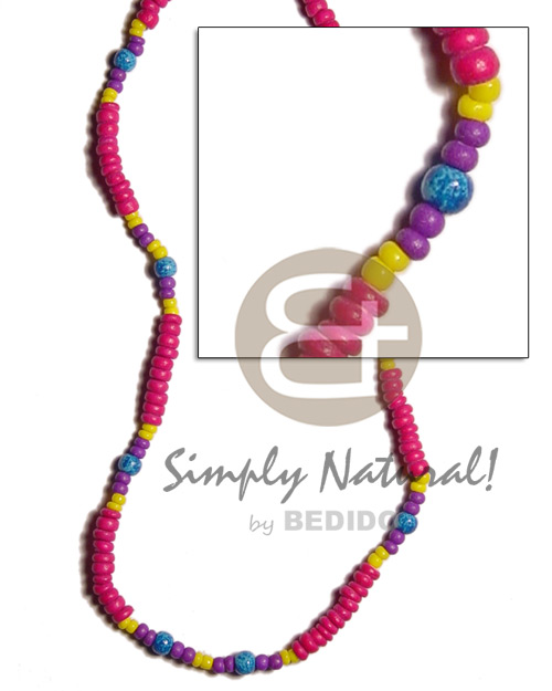 4-5mm fuschia pink coco pokalet Teens Necklace