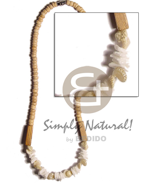 4-5mm coco natural white Teens Necklace