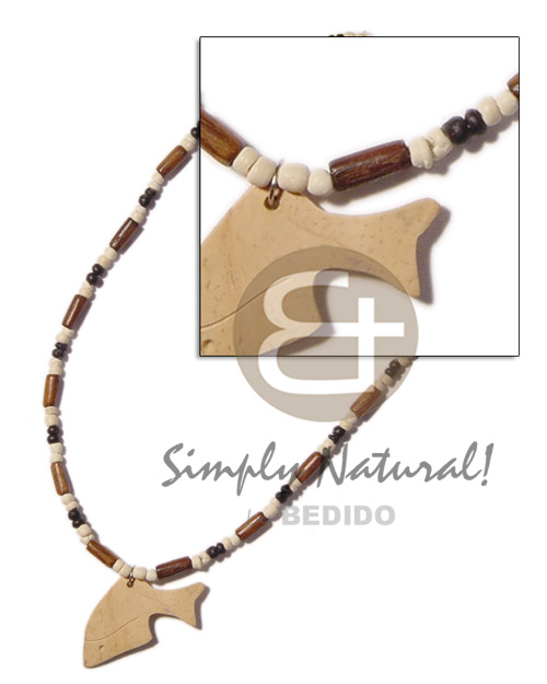 Bayong wood tube 2-3mm Teens Necklace